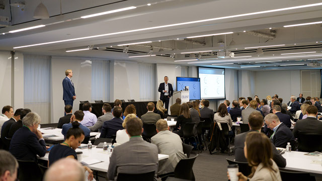 Celent's CEO Jamie Macgregor and Head of Retail Banking Dan Latimore kicked off the day discussing insights from our research that highlight the latest industry trends.