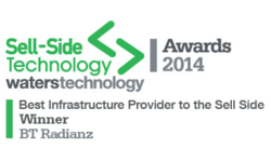 WINNERS: Best Infrastructure Provider to the Sell Side — BT Radianz Services: Sell-Side Technology Awards 2014 | BT Financial Technology Services | Celent