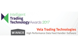 Vela's SMDS awarded Best High Performance Data Feed Handler - Software | Vela | Celent