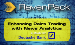 Enhancing Pairs Trading with News Analytics - a Deutsche Bank study | RavenPack | Celent