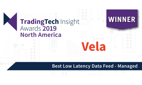 Vela wins award for Best Managed Low Latency Data Feed | Vela | Celent