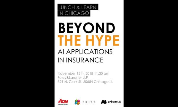 Beyond The Hype: AI Applications in Insurance 11/15/18 | UrbanStat | Celent