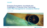 Webinar: Emerging Ecosystems: Incumbents and Challengers in Financial Crime Technology