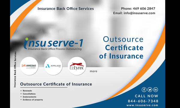 Outsource Certificate of Insurance - Insurance back office services | Insuserve1 | Celent