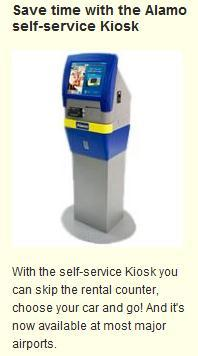 Alamo offers self-service kiosks that nobody uses